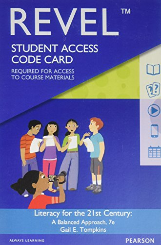 9780134303208: REVEL for Literacy for the 21st Century: A Balanced Approach -- Access Card (7th Edition)