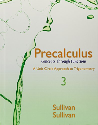 9780134308104: Precalculus: Concepts Through Functions, A Unit Circle Approach to Trigonometry, MyLab Math Inside Star Sticker, MyLab Math -- Glue-in Access Card (3rd Edition)