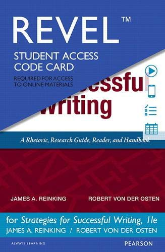 9780134309538: REVEL for Strategies for Successful Writing - Access Card (11th Edition)