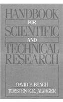 9780134310404: Handbook For Scientific and Technical Research