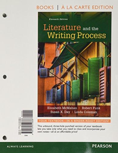 9780134310886: Literature and the Writing Process, Books a la Carte Edition (11th Edition)