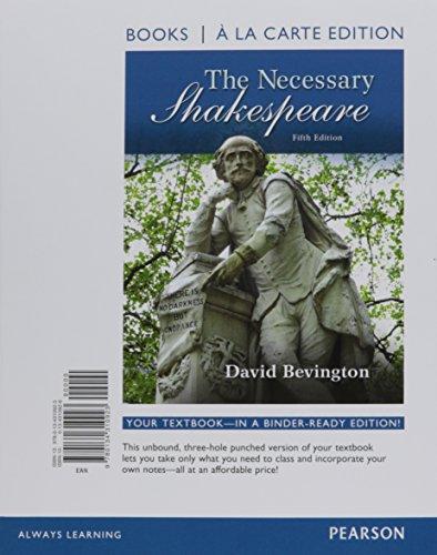 9780134310923: Necessary Shakespeare, Books a la Carte Edition (5th Edition)