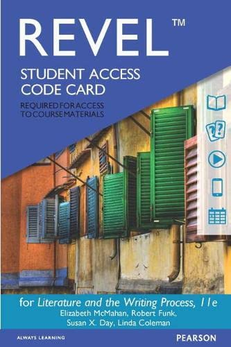 9780134312200: REVEL for Literature and the Writing Process -- Access Card (11th Edition)