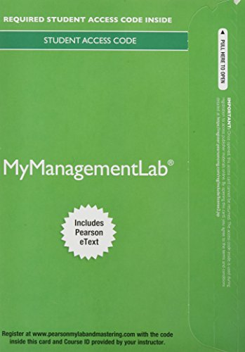 MyManagementLab with Pearson eText -- Access Card: Martocchio, Joseph J.