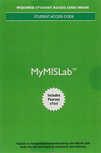 9780134325187: MyLab MIS with Pearson eText -- Access Card -- for Essentials of MIS