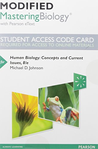 Modified Masteringbiology with Pearson Etext -- Standalone Access Card -- For Human Biology: ...