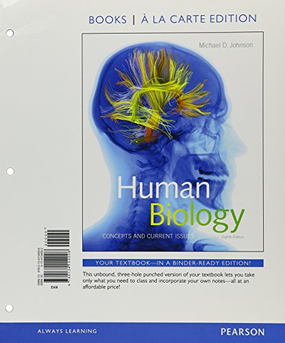 9780134326689: Human Biology: Concepts and Current Issues