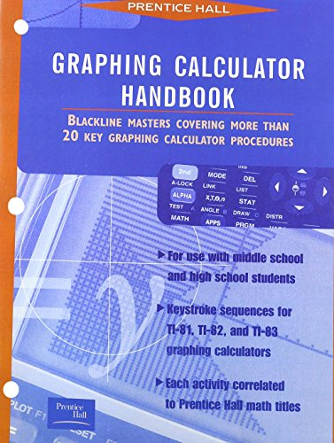 9780134334103: Graphing Calculator Handbook 1997 Copyright
