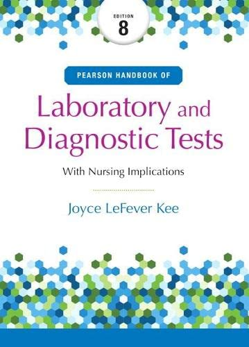 9780134334998: Pearson's Handbook of Laboratory and Diagnostic Tests