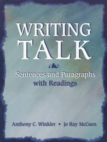 9780134348957: Writing Talk: Sentences and Paragraphs With Readings