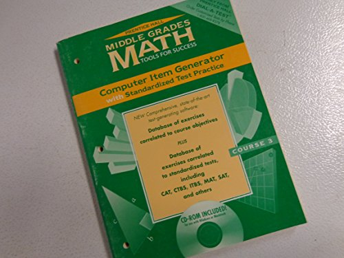 9780134354064: Middle Grades Math Tools for Success Computer Item Generator with Standardized Test Practice CD-ROM Included (Course 2)