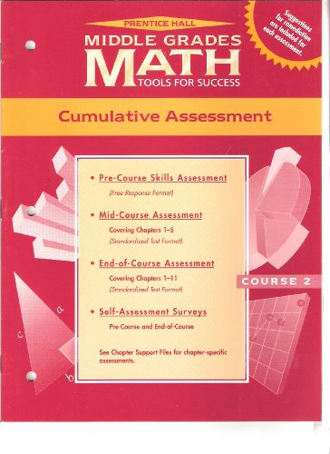 9780134359212: Prentice Hall Middle Grades Math Tools for Success (Cumulative Assessment, Course 2)