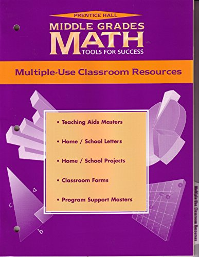 9780134359236: Prentice Hall Middle Grades Math Tools for Success (Multiple-Use Classroom Resources)