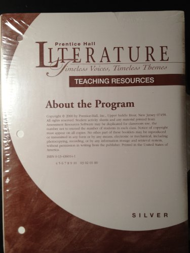 9780134360140: Teaching Resources for Prentice Hall Literature: Timeless Voices, Timeless Themes Silver