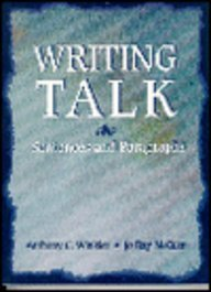 9780134360232: Writing Talk: Sentences and Paragraphs