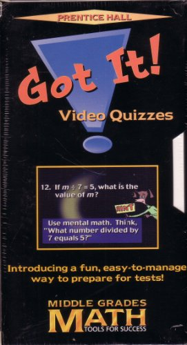 Middle Grades Math-Tools For Success, Course 3, Grade 8: Got It! VHS Video Quizzes Packaged Set Of ...