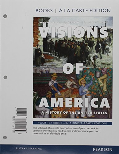 9780134377537: Visions of America, Volume Two, Books a la Carte Edition Plus REVEL -- Access Card Package (3rd Edition)