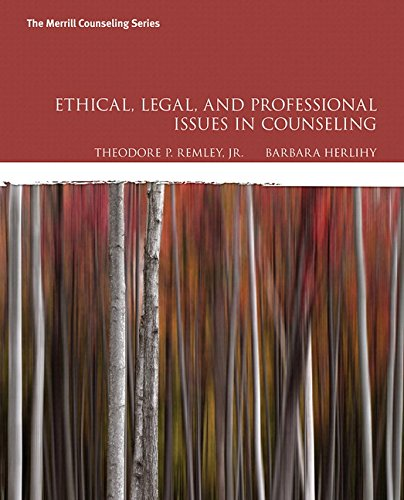 9780134379104: Ethical, Legal, and Professional Issues in Counseling (The Merrill Counseling Series)