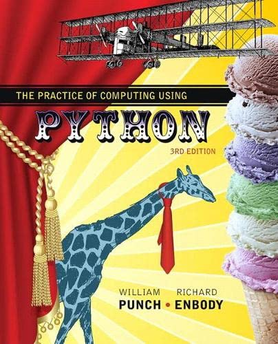 9780134379760: The Practice of Computing Using Python (3rd Edition)