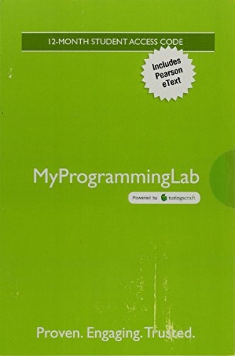 9780134381350: MyProgrammingLab with Pearson eText -- Standalone Access Card -- for The Practice of Computing using Python