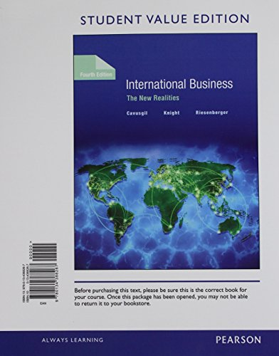 9780134388267: International Business: The New Realities, Student Value Edition (4th Edition)