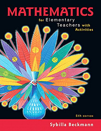 9780134392790: Mathematics for Elementary Teachers with Activities