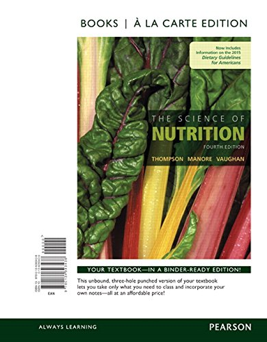 9780134393438: The Science of Nutrition, Books a la Carte Edition (4th Edition)