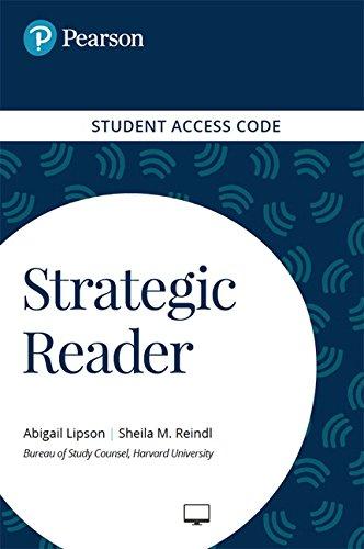 9780134396125: Strategic Reader -- Standalone Access Card