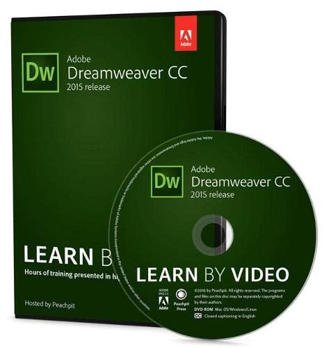 9780134396378: Adobe Dreamweaver CC Learn by Video (2015 release)