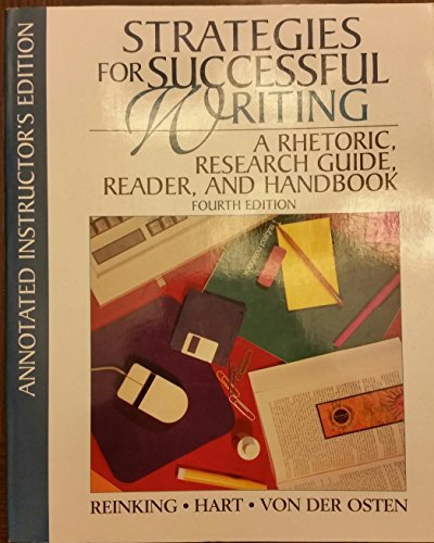 9780134398945: Strategies for Successful Writing