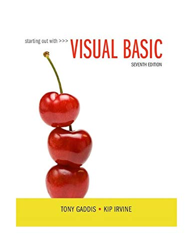 9780134400150: Starting Out With Visual Basic (7th Edition)