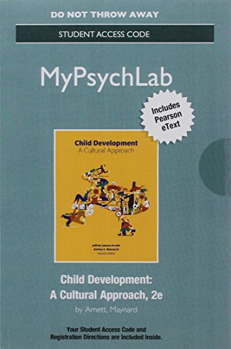 9780134412825: NEW MyPsychLab with Pearson eText -- Access Card -- for Child Development: A Cultural Approach (2nd Edition)