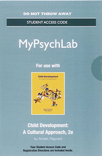 9780134412856: NEW MyPyschLab -- Access Card -- for Child Development: A Cultural Approach (2nd Edition)