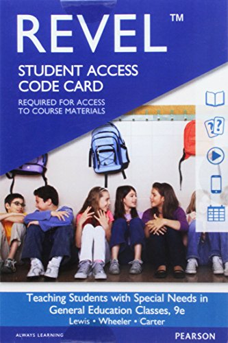 9780134413303: REVEL for Teaching Students with Special Needs in General Education Classrooms -- Access Card (9th Edition)