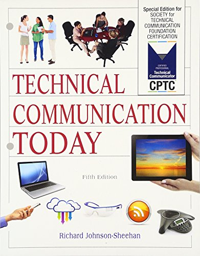 9780134419398: Technical Communication Today: Special Edition for Society for Technical Communication Foundation Certification, Books a la Carte Edition (5th Edition)