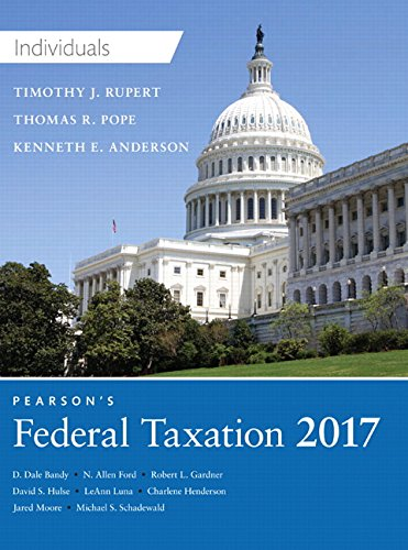 9780134420868: Pearson's Federal Taxation 2017 Individuals (30th Edition) (Prentice Hall's Federal Taxation Individuals)