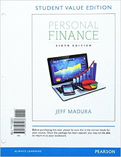 9780134426839: Personal Finance, Student Value Edition Plus MyLab Finance with Pearson eText -- Access Card Package (6th Edition)