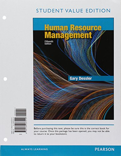 Human Resource Management, Student Value Edition Plus: Dessler, Gary