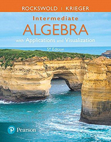 9780134442327: Intermediate Algebra with Applications & Visualization (5th Edition)