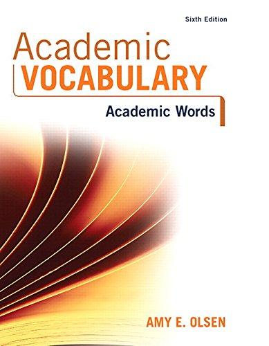 Academic Vocabulary: Academic Words Plus Myreadinglab -- Access Card Package: Amy E. Olsen