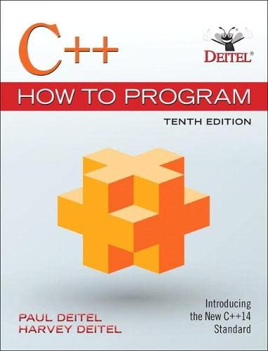 9780134448237: C++ How to Program (10th Edition)