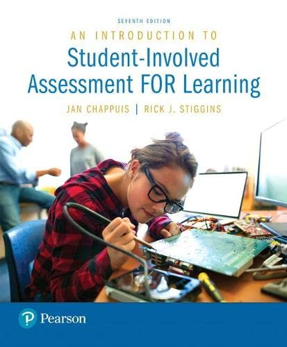 9780134450261: An Introduction to Student-Involved Assessment FOR Learning (7th Edition)