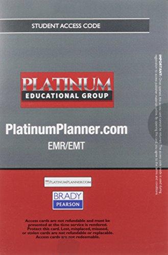 9780134453750: Platinum Planner: EMR/EMT -- Student Access Card