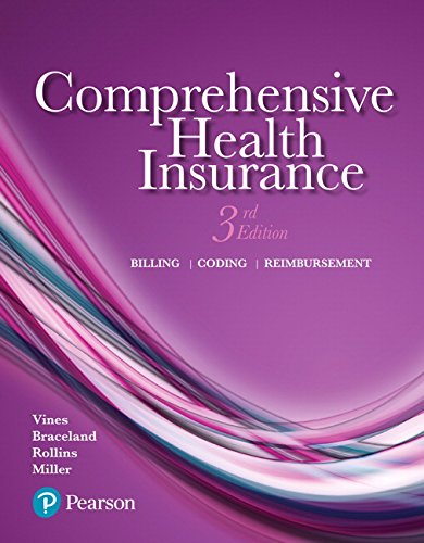 9780134458779: Comprehensive Health Insurance: Billing, Coding, and