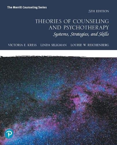 9780134460864: Theories of Counseling and Psychotherapy: Systems, Strategies, and Skills