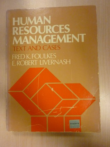 9780134463025: Human Resources Management: Text and Cases