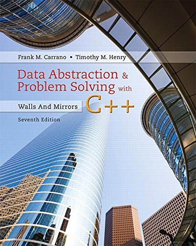 9780134463971: Data Abstraction & Problem Solving with C++: Walls and Mirrors (7th Edition)