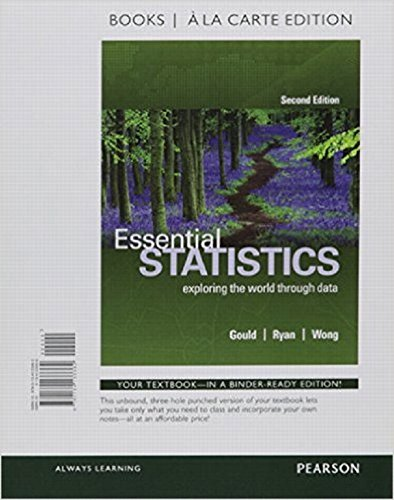 9780134466026: Essential Statistics, Books a la Carte Edition Plus MyLab Statistics with Pearson eText -- Access Card Package (2nd Edition)