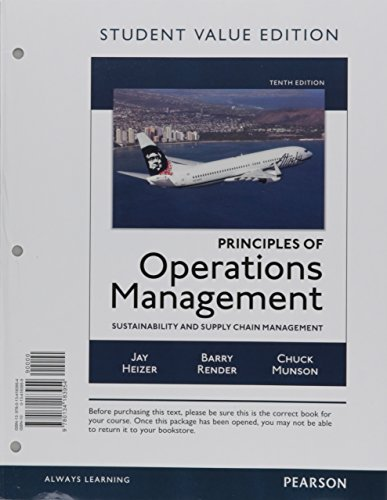 Principles of Operations Management: Sustainability and Supply Chain Management: Heizer, Jay/ ...