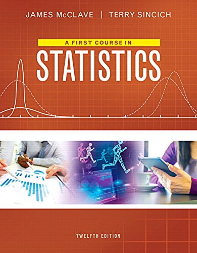 A First Course in Statistics Plus MyStatLab with Pearson eText -- Access Card Package (12th Edition...